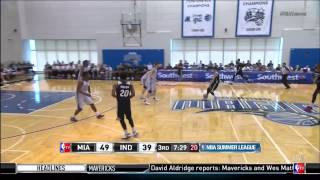 July 04, 2015 - NBATV - Miami Heat Summer League Game 01 Vs Indiana Pacers - Win (01-00)(HL)