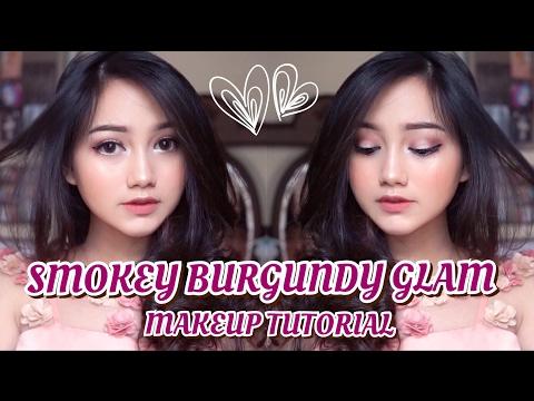 Smokey Burgundy Glam Makeup Tutorial [ENG SUB]