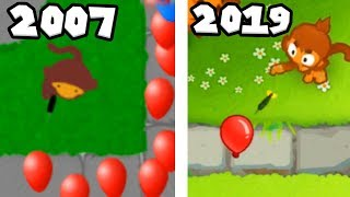 The Evolution Of Bloons TD 2007-2019