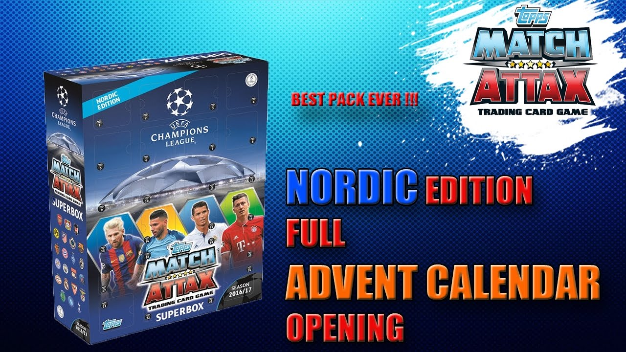 Advent Calendar Superbox Match Attax Uefa Champions League