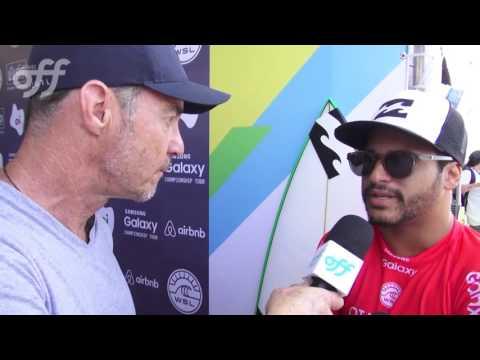 Italo Ferreira conquistou a maior nota do primeiro round do Rio Pro