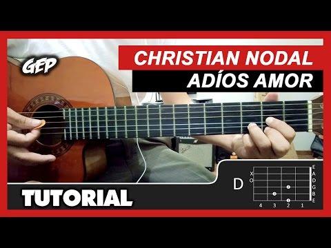 "Como tocar ""Adiós Amor"" de Christian Nodal en Guitarra - Tutorial (HD) ACORDES"