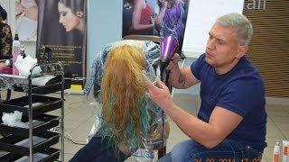 видео окрашивание dip dye