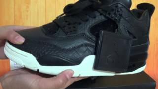 cca0dfa83a96c4 Authentic Air Jordan 4 Pinnacle Black HD Unboxing Review From authenticaj