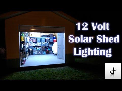 DIY Solar Shed Lighting!