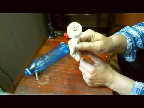 Самодельный краскопульт из пластиковой бутылки.