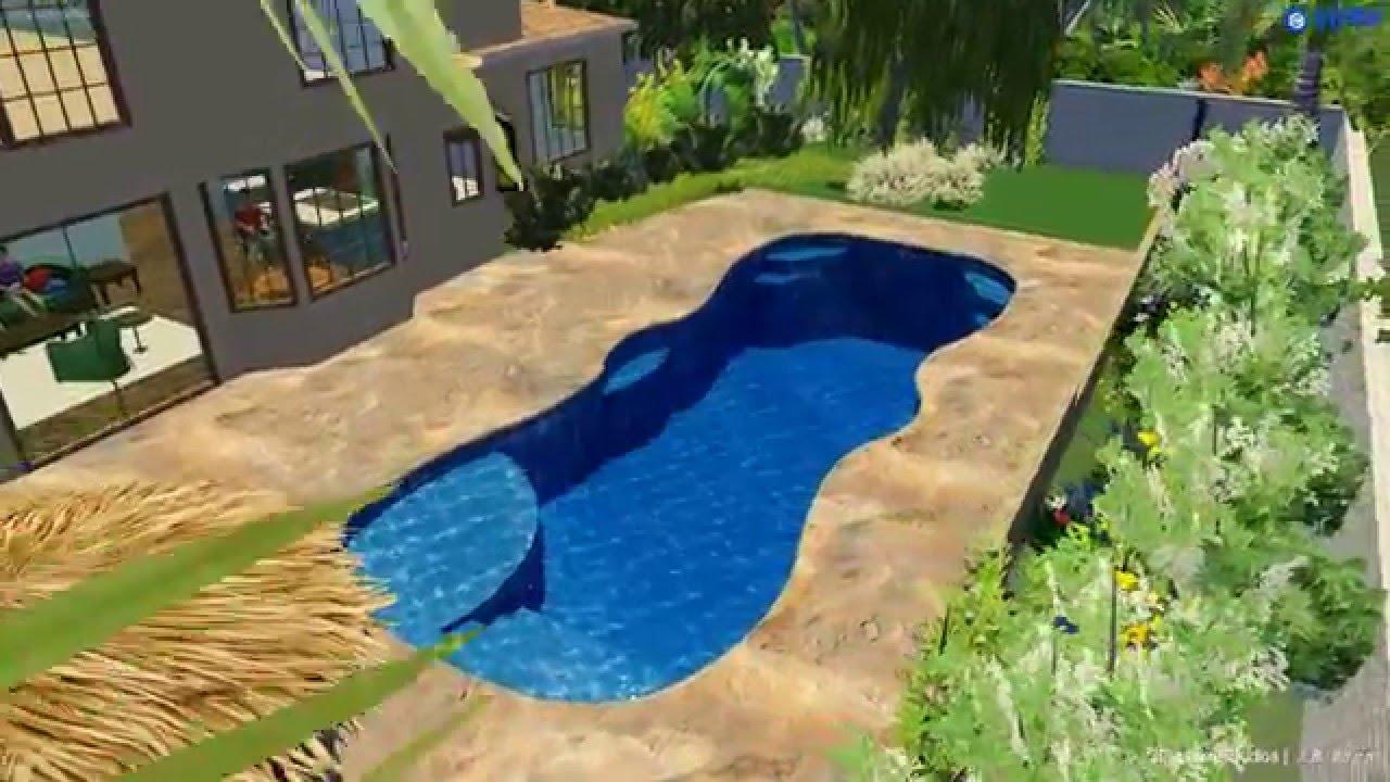 Barrier reef lounger series fiberglass pools youtube - Barrier reef pools ...