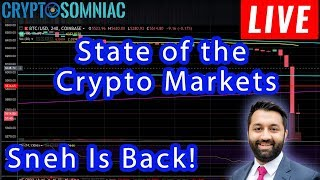 State of the Crypto Markets! | Bitcoin Price | Live Stream | TA with Sneh