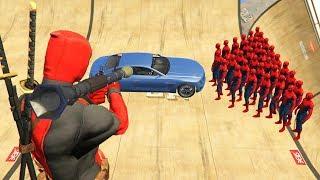 GTA 5 Crazy Ragdolls Spiderman Vs Deadpool (GTA 5 Euphoria Physics Ragdolls Fails Funny)