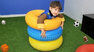 Learn Colors with Colours Tires for kids and children