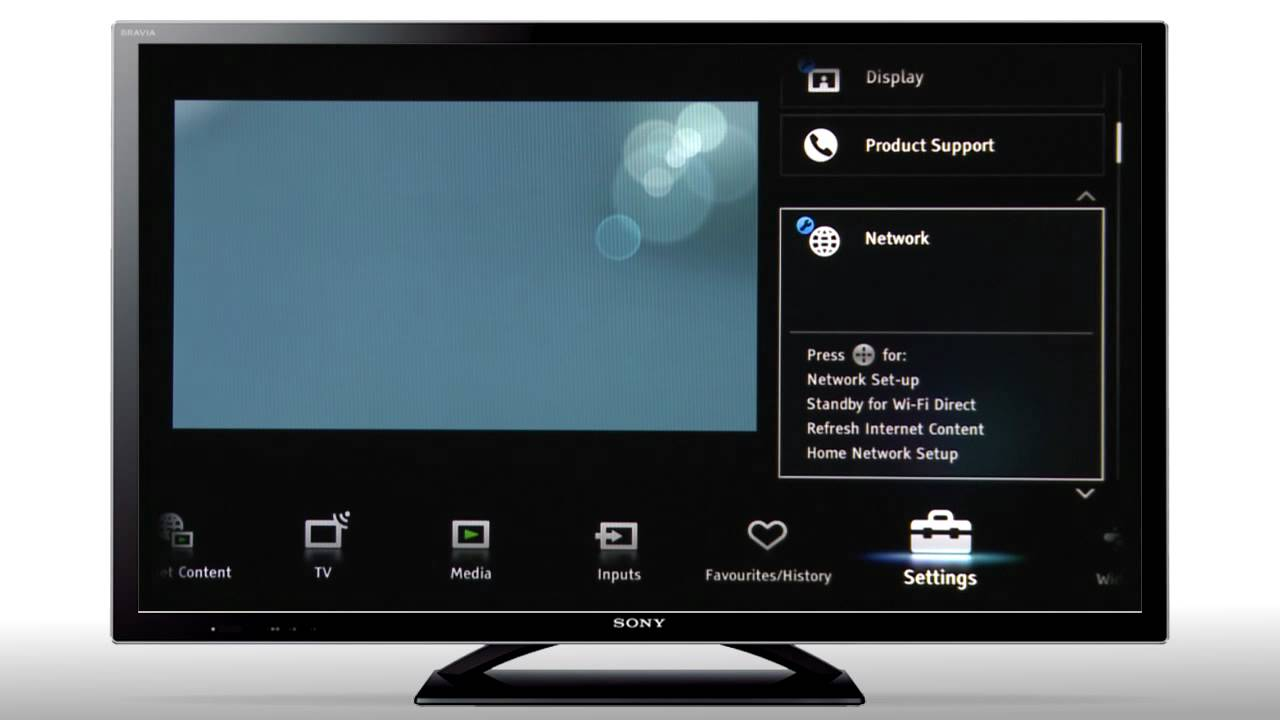 How To Connect Your Bravia To A Wireless Wi Fi Network