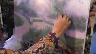 Летний пейзаж, художник Сахаров, уроки живописи