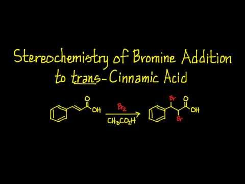 Stereochemistry of Bromine Addition to trans-Cinnamic Acid