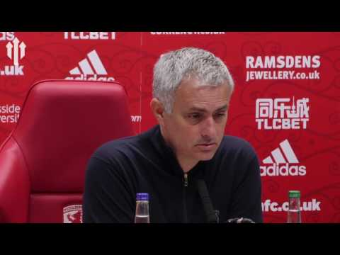 Jose Mourinho: Rather WIN Europa! Middlesbrough 1-3 Man United FULL PRESS CONFERENCE