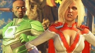 "Injustice 2: Power Girl Vs John Stewart Gameplay First Look! Injustice 2 ""Powergirl"" ""John Stewart"""