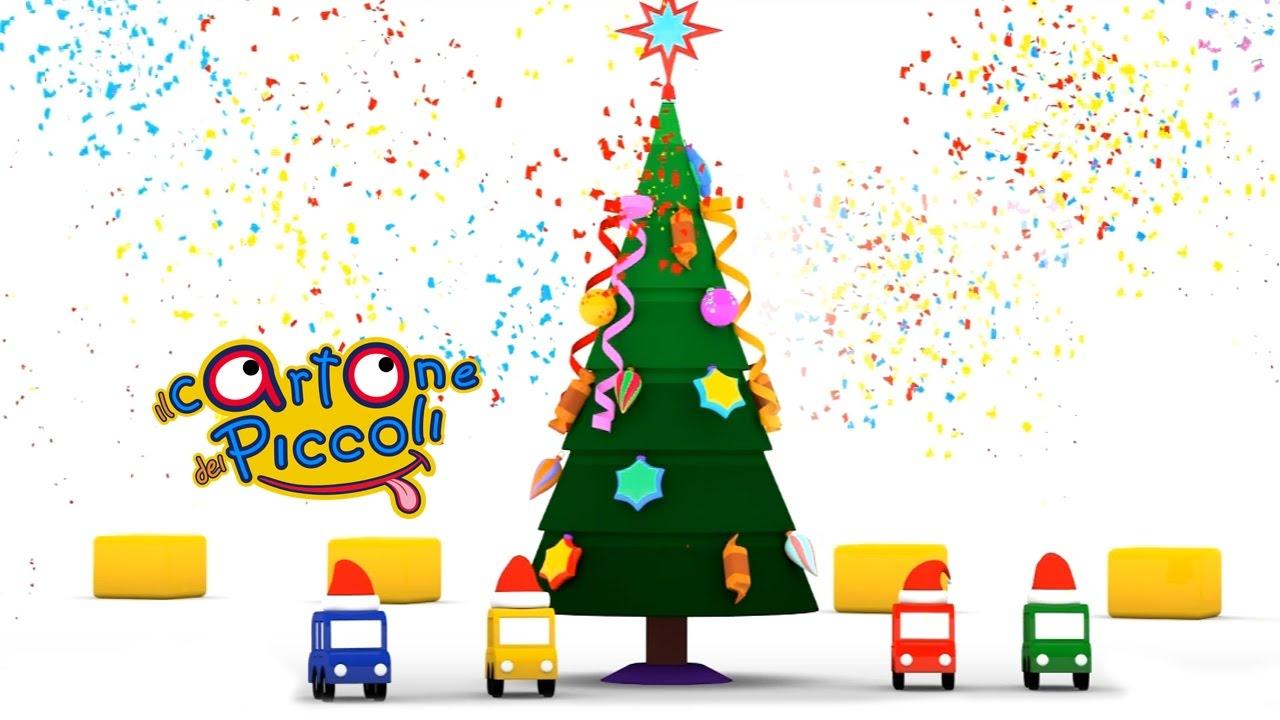 Immagini Di Natale Per Bambini Colorate.Cartoni Animati Per Bambini Macchinine Colorate E Il Giorno Di Natale