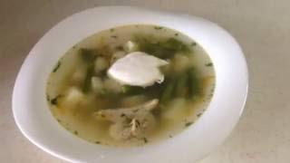 Суп из спаржевой фасоли за 30 минут
