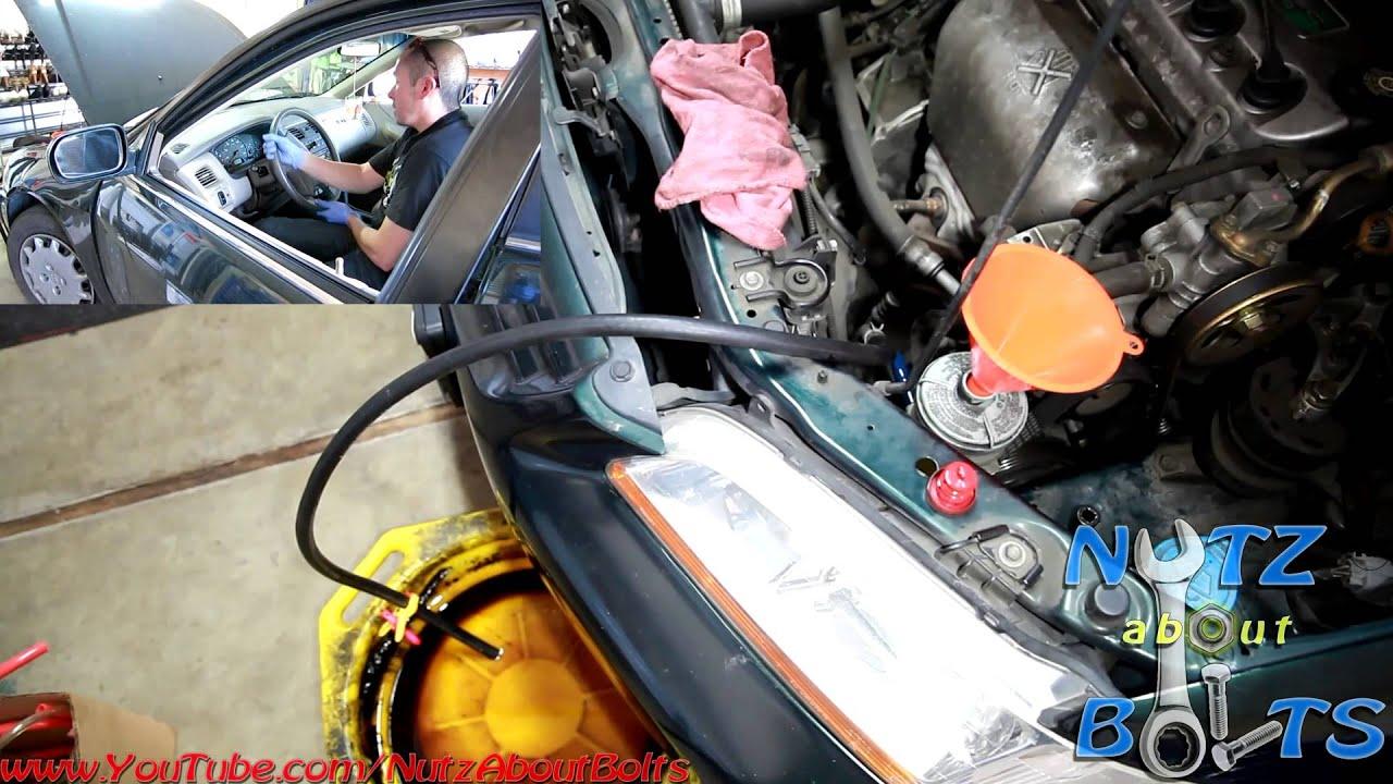 1998 2002 honda accord 1 person power steering flush youtube rh youtube com