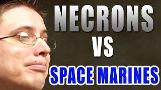 Necrons vs Space Marines Warhammer 40k Battle Report - Beat Matt Batrep Ep 109