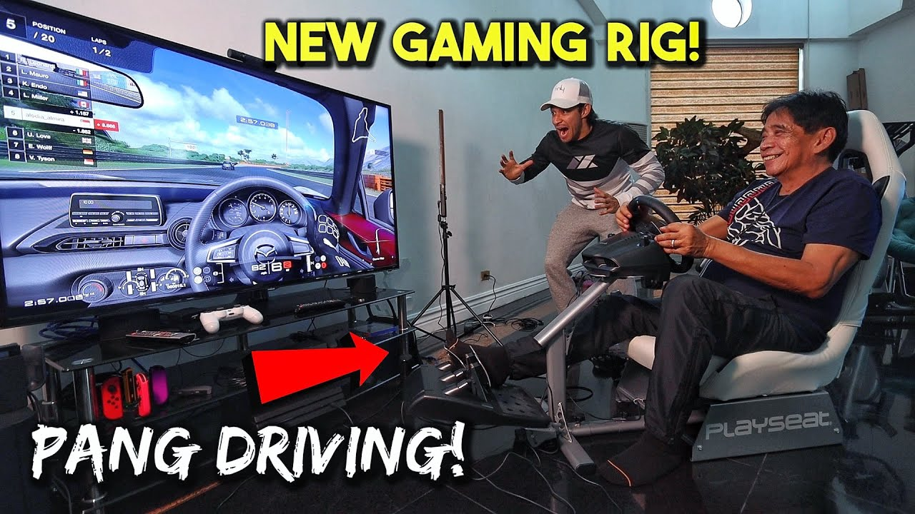 Playing with Jowa's NEW Driving Rig (NEXT LEVEL GAMING)