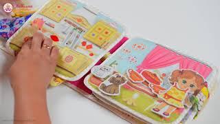 Развивающая книжка «Книжка для девочек» 20х20 см. Видеообзор страниц