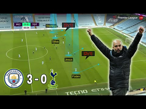 How Guardiola Tactically Out-classed Mourinho | Man City vs Tottenham 3-0 | Tactical Analysis
