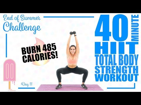 40 Minute HIIT Total Body Strength Workout 🔥Burn 485 Calories! 🔥