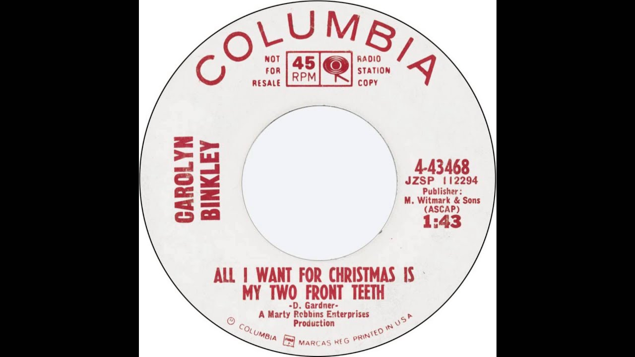 Carolyn Binkley - All I Want For Christmas Is My Two Front Teeth ...