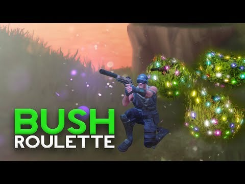 BUSH ROULETTE CHALLENGE - Fortnite Battle Royale