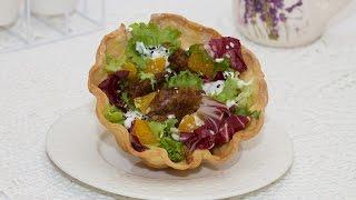 Салат из куриной печени под сметанным соусом#рецепты,#салат,#салаты