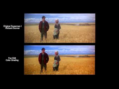 COLOR GRADING COMPARISON - SUPERMAN - THE RICHARD DONNER VISION