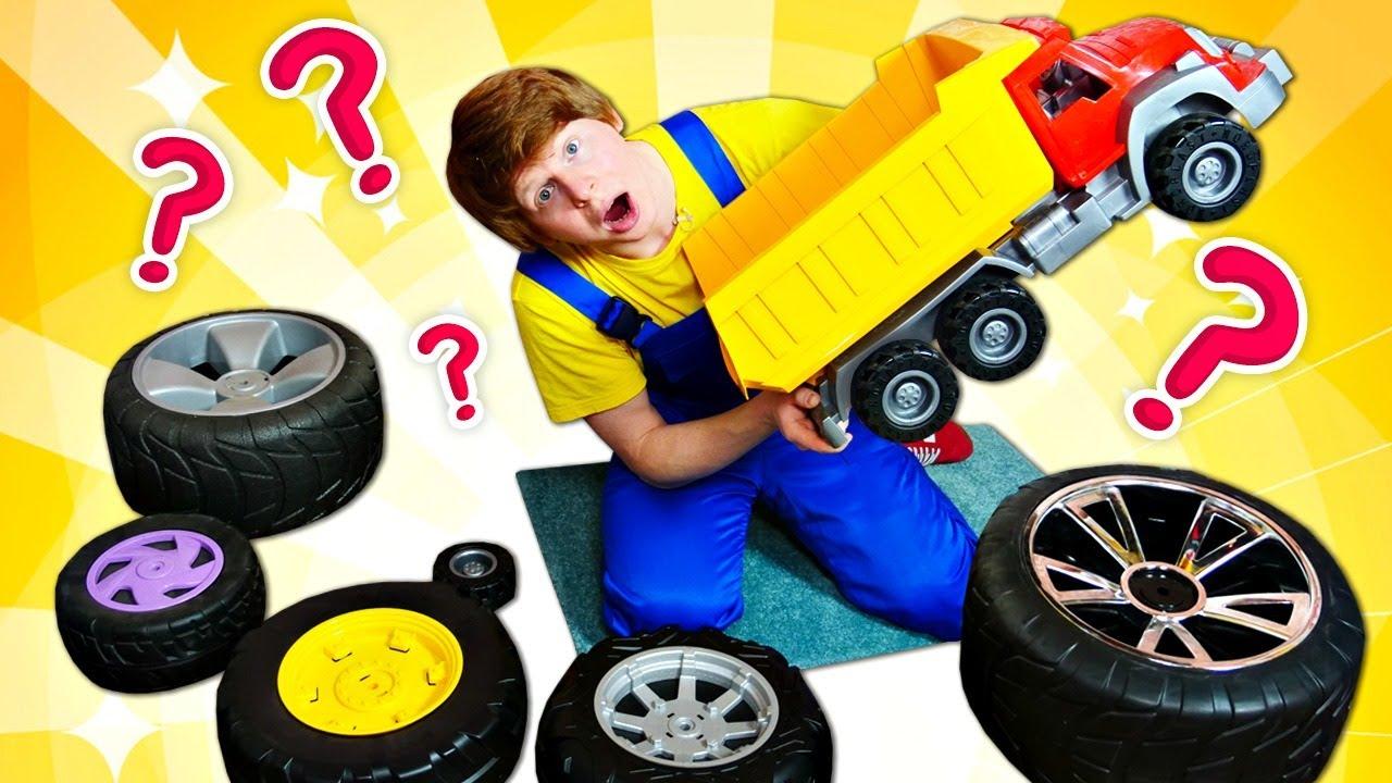 Колеса для грузовика. Видео про машинки для мальчиков ...