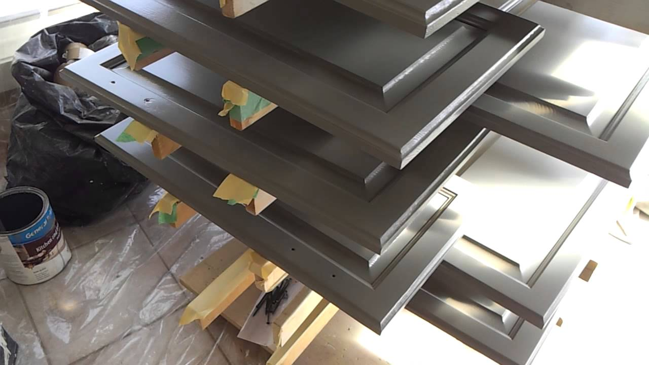 CABINET DOORS DRYING UP ON WOOD RACK - YouTube