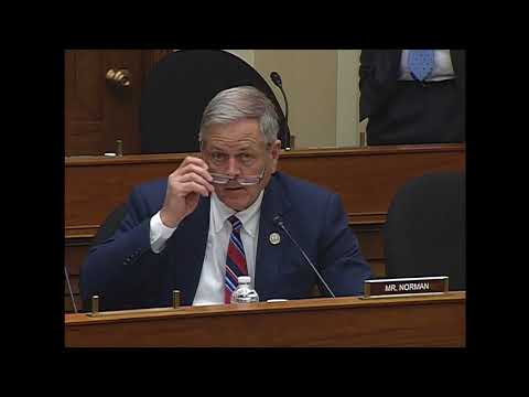 """Rep. Norman's Q&A on """"Department of Energy: Management and Priorities"""""""
