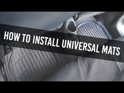 How to Install Universal Car Floor mats - Trimmable