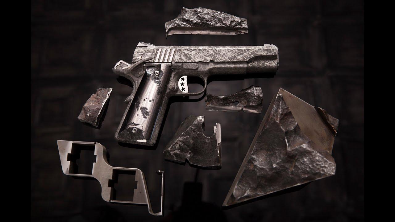 4 5 Million One Of A Kind Meteorite Handguns Moorish Harem
