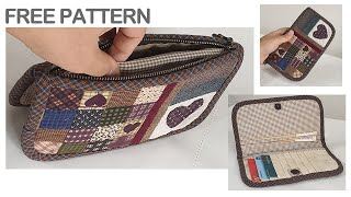 Quilted Wallet Quilted Wallet  Making Card Wallet Purse Free Pattern Fabric Wallet Making