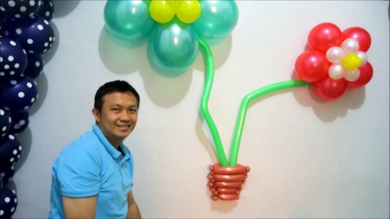 Cara Dekorasi Balon Bentuk Bunga