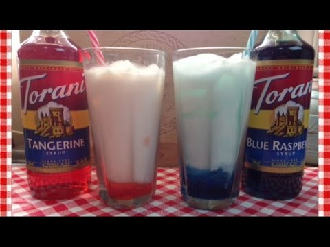 Super Bowl Team Colors Italian Sodas ~ Torani Friday!