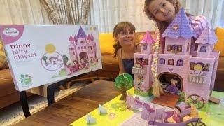 Rapunzel için kartondan prensses kalesi yaptık, eğlenceli çocuk videosu