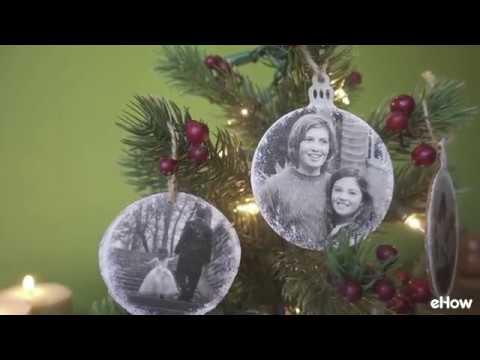 DIY Wood Transfer Christmas Ornaments