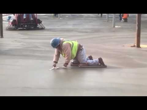 Sierra Construction- Finishing the concrete floor on the main level