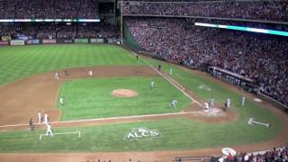2011 ALCS Game 6 Texas Rangers Win American League Championship defeating Detroit Tigers