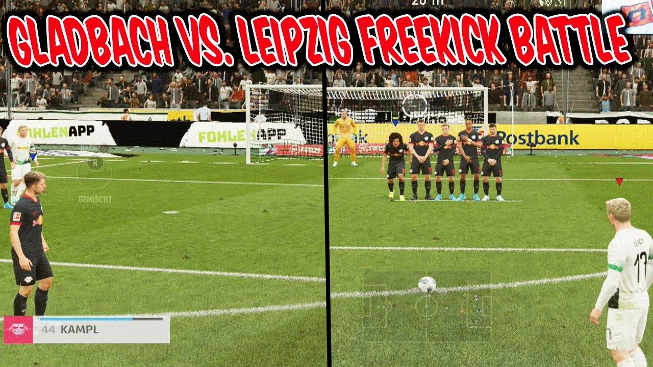 Gladbach Vs Rb Leipzig Freekick Challenge Kranke Freistosse Vs Bruder Fifa 20 Ultimate Team Youtube
