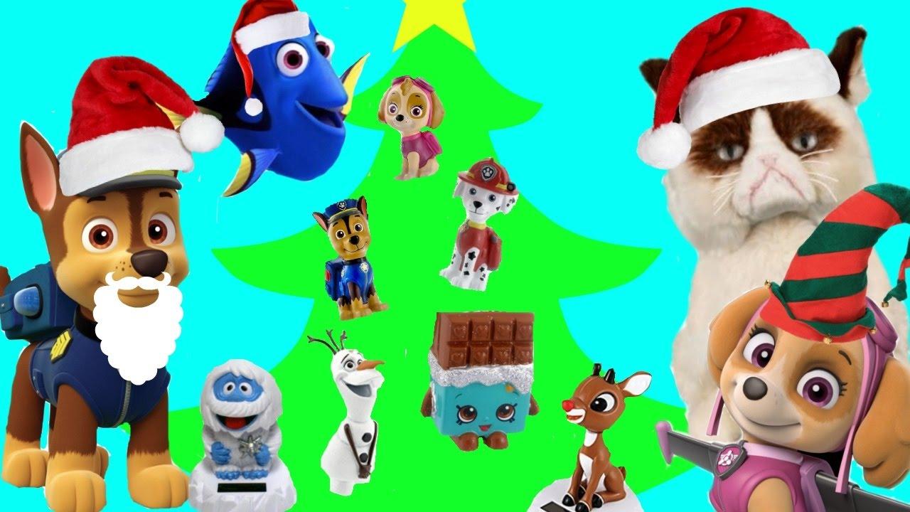 Paw Patrol Chase & Skye Decorate Christmas Tree Ornaments, Shopkins ...