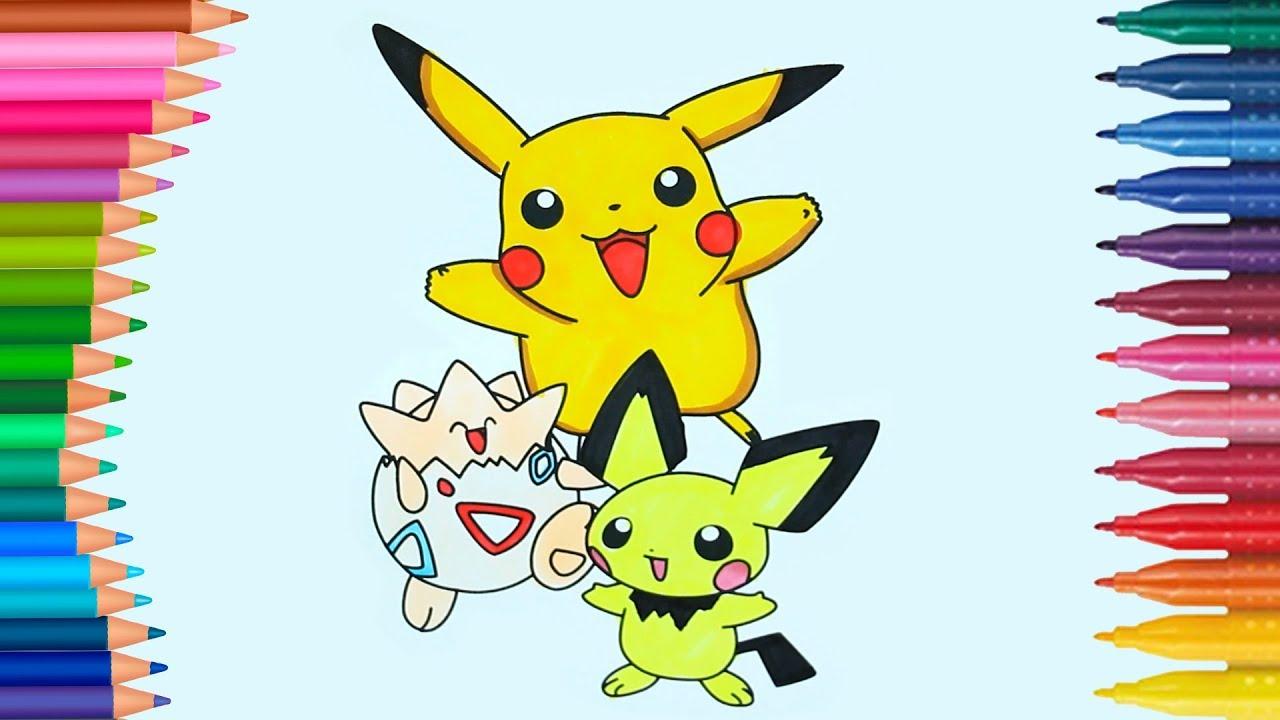Pokemon Personaggi Pikachu Come Disegnare E Colorare Disegni