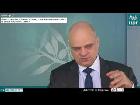 La Banque de France est-elle privée ? BCE ? BRI ? Vincent BROUSSEAU