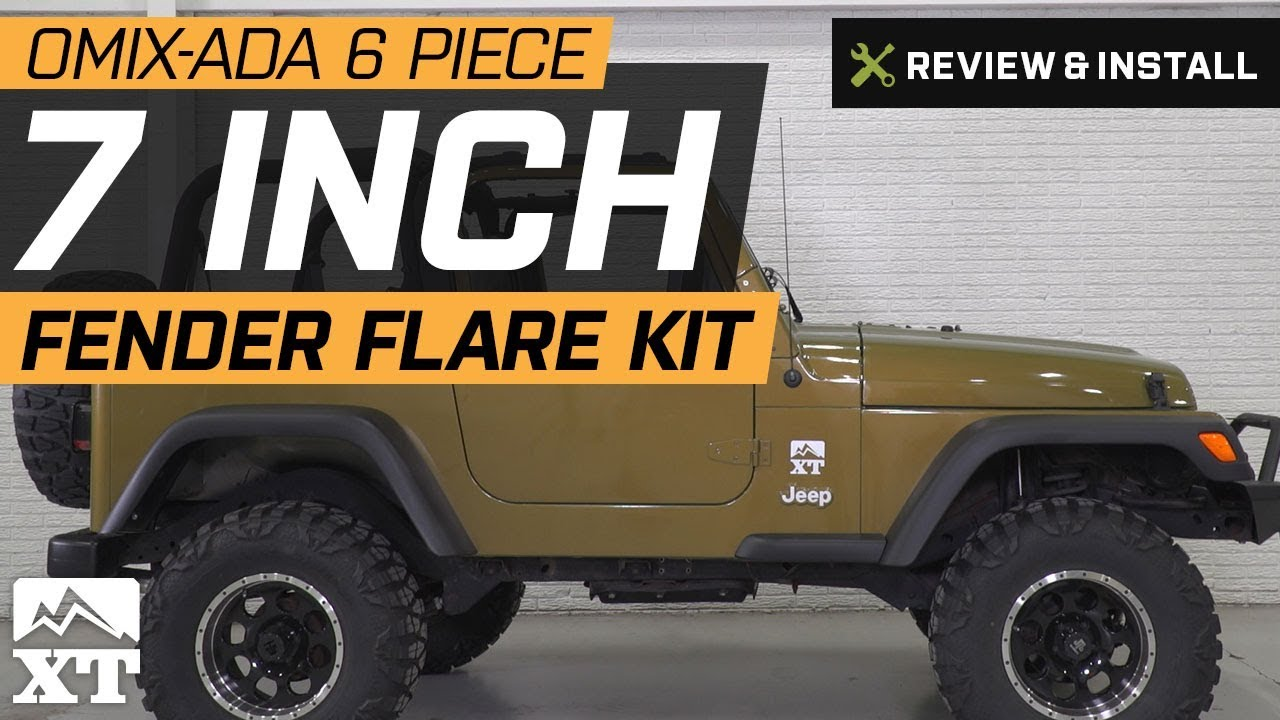 6-Piece 7 in  Fender Flares (97-06 Jeep Wrangler TJ)