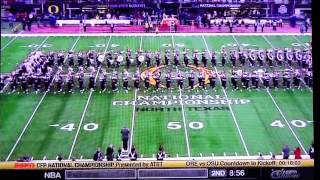 OSUMB TBDBITL Ohio State Marching Band Pregame WITH SOUND At Natl Championship 1 12 2015