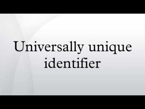 Universally Unique Identifier